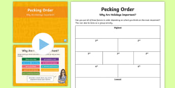 Pecking Order Why Are Holidays Important? PowerPoint Pack - Pecking Order, Diamond 9, Listening and Talking, second level, why are holidays important, discussio