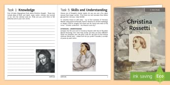 GCSE Poetry   Christina Rossetti Poet Study Pack