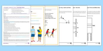 Volleyball Lesson 4: Underarm Serve - PE, KS3, Volleyball, underarm serve, lesson plan, set, dig, indoor, technique, ball games, under