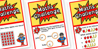 Year 2 Maths Challenge Cards Dyslexia - dyslexia maths challenge cards, year 2 maths challenge cards in dyslexia font, sen maths challenges, year 2 maths