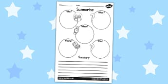 Summary Writing Frame - writing templates, summarise, literacy