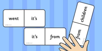 Phase 4 High Frequency Words Dominoes - dominoes, phase 4, words