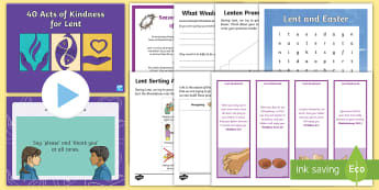 CfE Lent Second Level Resource Pack - Easter, Ash Wednesday, Pancake Day, Christianity, Catholic, celebrations, tradition,