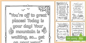 Mindfulness Graduation Quotes Colouring Pages - graduation, grad, sixth class, colouring, quotes, reflection,Irish