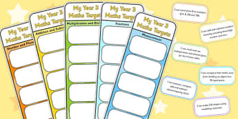 Year 3 Maths Assessment Bookmarks and Cut Outs - math, assessment