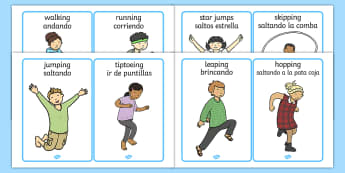 PE Physical Action Word and Picture Cards - PE Physical Action Word and Picture Cards -  PE, action, actions, physical actions, flashcard, moves