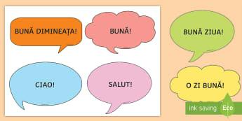 Forme de salut   Bule de dialog  - dezvoltare personală, comunicare orală, comportament social, română, jocuri,Romanian