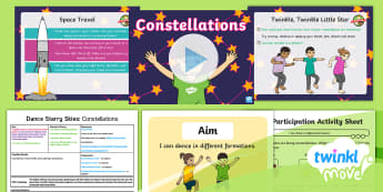 Twinkl Move - Year 1 Dance: Starry Skies Lesson 6 - Constellations - Dance Starry Skies, Year 1, Y1, Key Stage 1, KS1, Movement, Dance, Physical Education, Exercise, Con