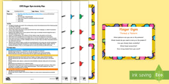 EYFS Thread a Pattern Finger Gym Plan and Resource Pack - EYFS, Patterns, shape space measure, threading, beading, beads, repeating pattern, shape, colour