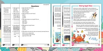 Starry-Eyed Stan Differentiated Reading Comprehension Activity - Twinkl Originals, Fiction, under the sea, seaside, beach, oceans, KS1, Guided Reading, responding to
