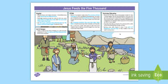 Jesus Feeds The 5000 KS1 Bible Story Lesson Ideas