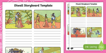 Rama and Sita Diwali Storyboard Template