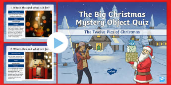 UKS2 The Big Christmas Mystery Object Quiz Pack - Christmas quiz, xmas, mystery object, morning activity, team work