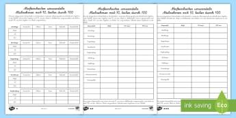 Maßeinheiten umwandeln Arbeitsblätter: Unterschiedliche Schwierigkeitsgrade - Messen, Maß, Maßeinheit, Meter, Zentimeter, m, cm, mm, Rechnen
