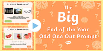 LKS2 The Big End of the School Year Odd One Out Quiz PowerPoint - Transition Quiz Game