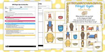 EYFS Sloppy Porridge Finger Gym Activity Plan - finger gym, porridge