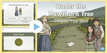 Chapter Five Quiz PowerPoint to Support Teaching on Under the Hawthorn Tree - ROI - Resources to Support The Teaching Of Under the Hawthorn Tree, Under the Hawthorn Tree, Third C