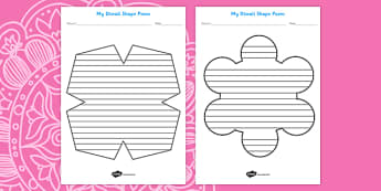 Diwali Shape Poetry Templates - diwali, poem, poems, festivals
