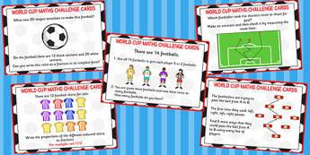 World Cup Maths Challenge Cards KS2 - challenge, cards, ks2