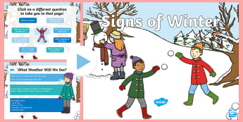 EYFS/KS1 Signs of Winter PowerPoint - Cold, Year 1, Year 2, Seasonal Changes, Weather and Seasons
