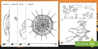 Halloween Coloring Activity Sheets - Halloween, coloring, color, activity, worksheets