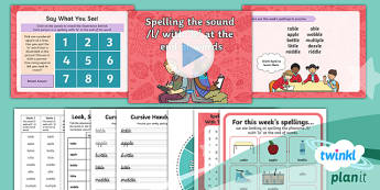 PlanIt Y2 Term 1B W1: 'le' Spelling Pack
