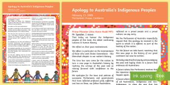 Apology to Australia's Indigenous Peoples Display Poster-Australia - Australia, Apology to Aboriginals, Apology to Aboriginal People, Aboriginal, Indigenous, Aborigines,