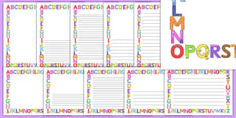 Upper Case Monster Alphabet Page Borders - uppercase, monster, alphabet, page borders, page, borders