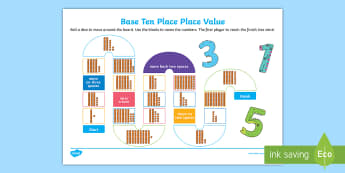 Base Ten Place Value Board Game - Australia Easter Maths, easter, australia, mathematics, place value, number, Year 1, KS1, MAB's, te