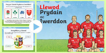 Pŵerbwynt Taith Llewod Prydain ac Iwerddon  - Taith y llewod, lions, rugby, rygbi, chwaraeon, sports, Cymru, Wales, British, Prydain,Welsh