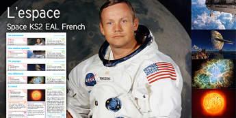 Imagine Space Packs KS2 Resource Pack French - Space, Astronaut, Landscape, Nebula, The Sun, Maths, Measure, Radius, Diameter, English, Biography,