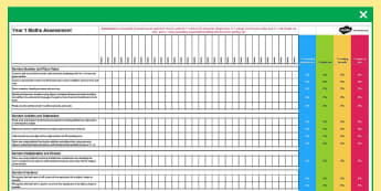 2014 National Curriculum Years 1 to 6 Maths Assessment Spreadsheets - assessment