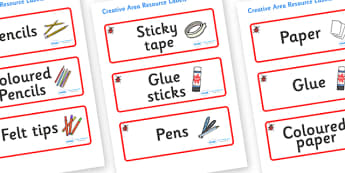 Ladybird Themed Editable Creative Area Resource Labels - Themed creative resource labels, Label template, Resource Label, Name Labels, Editable Labels, Drawer Labels, KS1 Labels, Foundation Labels, Foundation Stage Labels