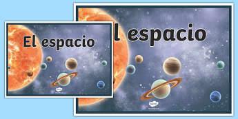 Cartel el Espacio
