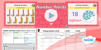 * NEW * PlanIt Maths Y1 Number and Place Value Lesson Pack Numerals and Words (2)