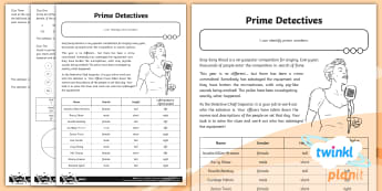 Prime Numbers Games and Activities