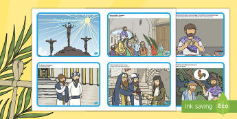 The Easter Story Sequencing Cards English/Hindi - The Easter Story Sequencing Cards - Easter Sequencing, Easter Story, Foundation, KS1, Easter, Easter