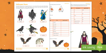 Halloween Races Activity Sheet - Halloween, speed, distance, time, units, measure, DST, metres, minutes, worksheet,