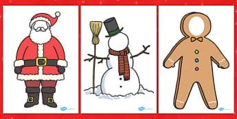 Face Editable Christmas Characters - Christmas, Characters, edit