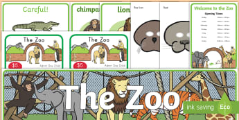 Zoo Role-Play Pack - role-play, zoo, resource pack, masks, tickets, posters, pretend, animals