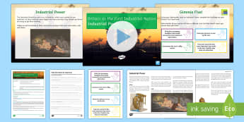 Industrial Revolution - Industrial Power Lesson Pack - Steam Power, Railways, Victorians, Water Power, Coal, Mining, Innovation, Inventions