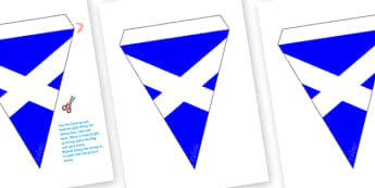 Scottish Flag Bunting - Scotland, Scottish, Scottish Flag, flag, bunting, flags, display, idea, Scottish Highlands