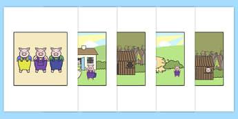 Stori Y Tri Mochyn Bach ar gyfer Bee Bot Mat Bee-Bot - tri mochyn bach, bee-bot, bee bot, iaith, stori, llythrennedd,Welsh