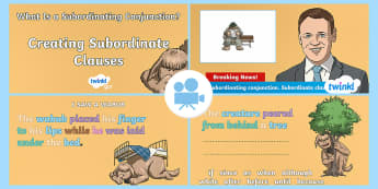 Spag-tastic!: Creating Subordinate Clauses (What Is a Subordinating Conjunction?) Video 2 - SPaG-Tastic Videos KS2, ks2, Year 3, year 4,, year 5, year 6, SPaG, GPS, spagtastic, spag-tastic, gr