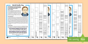 World Braille Day KS2 Differentiated Reading Comprehension Activity - KS1/2 World Braille Day  (4.1.17), braille, louis braille, blind, visually impaired, RNIB, eyes, Nat