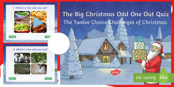 The Big Christmas Odd One Out Quiz PowerPoint - Christmas quiz, xmas, Odd One Out, morning activity, team work