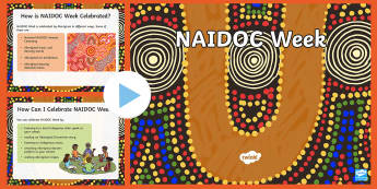 F-2 NAIDOC Week PowerPoint - Australia, Day of Mourning, history, Sorry Day, William Cooper, reconciliation, unity, culture Indig