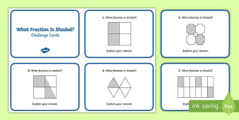What Fraction Is Shaded? Challenge Cards