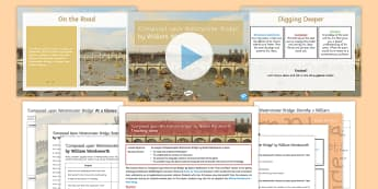 GCSE Poetry 'Composed upon Westminster Bridge' Lesson Pack