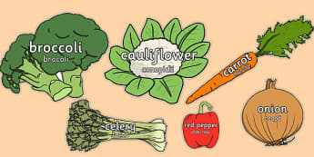 Vegetable Words on Vegetables Romanian Translation - romanian, healthy eating, health, food